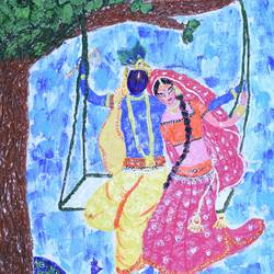 radhakrishna, 12 x 16 inch, yamuna devi,paintings,abstract paintings,figurative paintings,modern art paintings,religious paintings,nature paintings,art deco paintings,realism paintings,radha krishna paintings,contemporary paintings,realistic paintings,love paintings,paintings for dining room,paintings for living room,paintings for bedroom,paintings for office,paintings for hotel,paintings for hospital,kerala murals painting,canvas board,acrylic color,mixed media,12x16inch,GAL0713317315,radhakrishna,love,pece,lordkrishna,,lordradha,peace,radha,krishna,devotion,coupleheart,family,caring,happiness,forever,happy,trust,passion,romance,sweet,kiss,love,hugs,warm,fun,kisses,joy,friendship,marriage,chocolate,husband,wife,forever,caring,couple,sweetheartNature,environment,Beauty,scenery,greenery