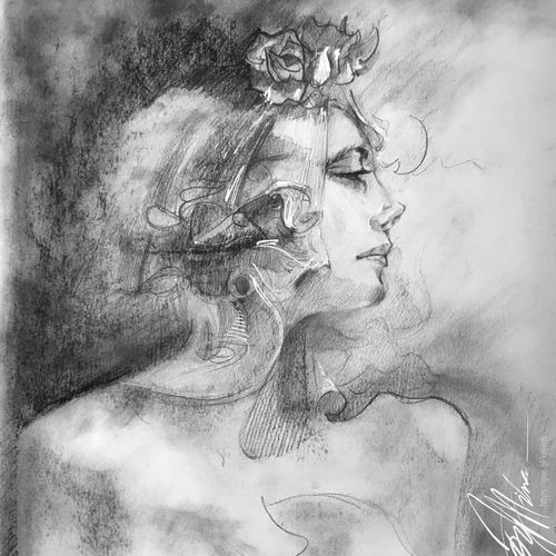 the bride..., 17 x 15 inch, joydeep mitra,drawings,fine art drawings,modern drawings,pop art drawings,fabriano sheet,charcoal,graphite pencil,17x15inch,GAL0768317324