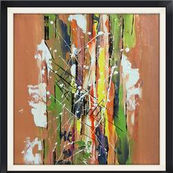 mundane lane coloured insane, 12 x 12 inch, anjali patel,paintings,abstract paintings,paintings for dining room,paintings for living room,paintings for bedroom,paintings for kids room,paintings for school,canvas,acrylic color,12x12inch,GAL0801117340