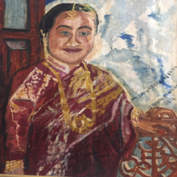 my daughter neerja, 24 x 30 inch, rajan pradhan,paintings,portrait paintings,paintings for dining room,paintings for living room,paintings for office,paintings for hotel,canvas,oil,24x30inch,GAL0798617360