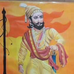 shivaji maharaj, 22 x 29 inch, shardha jodh,paintings,religious paintings,paintings for dining room,paintings for living room,paintings for bedroom,paintings for office,paintings for hotel,paintings for school,oil sheet,oil,22x29inch,GAL0807117405
