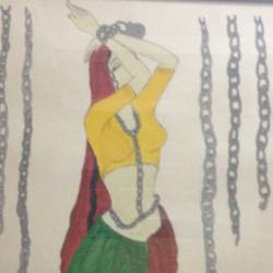 women independence, 15 x 18 inch, alka srivastava,conceptual paintings,paintings for school,thick paper,poster color,15x18inch,GAL0815517408