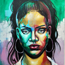 rihanna, 24 x 30 inch, chetna bernela,paintings,figurative paintings,modern art paintings,portrait paintings,portraiture,paintings for living room,paintings for bedroom,canvas,acrylic color,24x30inch,GAL0784517428