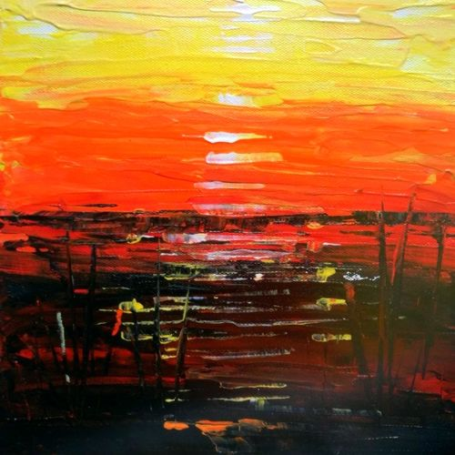 the sunset, 8 x 10 inch, viparna nisar,paintings,abstract paintings,cityscape paintings,landscape paintings,modern art paintings,nature paintings,abstract expressionist paintings,minimalist paintings,paintings for dining room,paintings for living room,paintings for bedroom,paintings for office,paintings for bathroom,paintings for kids room,paintings for hotel,paintings for kitchen,paintings for school,paintings for hospital,canvas,acrylic color,8x10inch,GAL0613417474Nature,environment,Beauty,scenery,greenery
