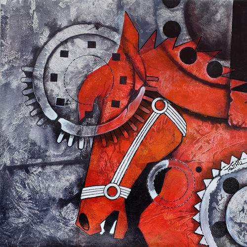 horse power_01, 25 x 21 inch, mithu biswas,paintings,abstract paintings,modern art paintings,conceptual paintings,horse paintings,paintings for dining room,paintings for living room,paintings for bedroom,paintings for office,paintings for bathroom,paintings for dining room,paintings for living room,paintings for bedroom,paintings for office,paintings for bathroom,canvas,acrylic color,25x21inch,GAL0673517507