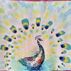 the sublime peacock, 25 x 13 inch, shivani goud chintanuru,paintings,abstract paintings,canvas,acrylic color,25x13inch,GAL0817717526