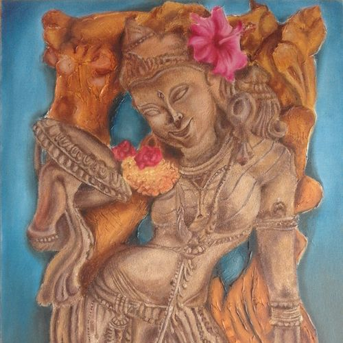 indian sculpture, 20 x 30 inch, rupashree das,paintings,figurative paintings,paintings for dining room,paintings for living room,paintings for bedroom,paintings for hotel,canvas board,oil,sand,20x30inch,GAL0818717538