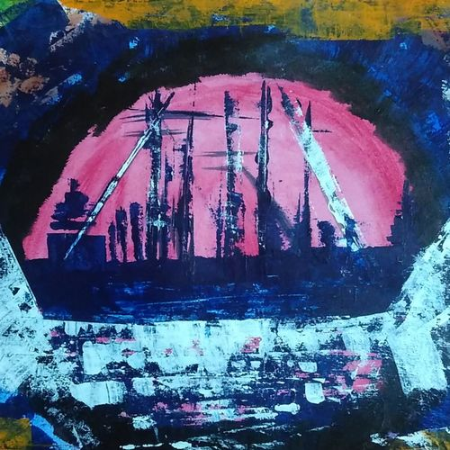 sail, 12 x 17 inch, sharanya missula,surrealist paintings,paintings for living room,thick paper,acrylic color,12x17inch,GAL06321754