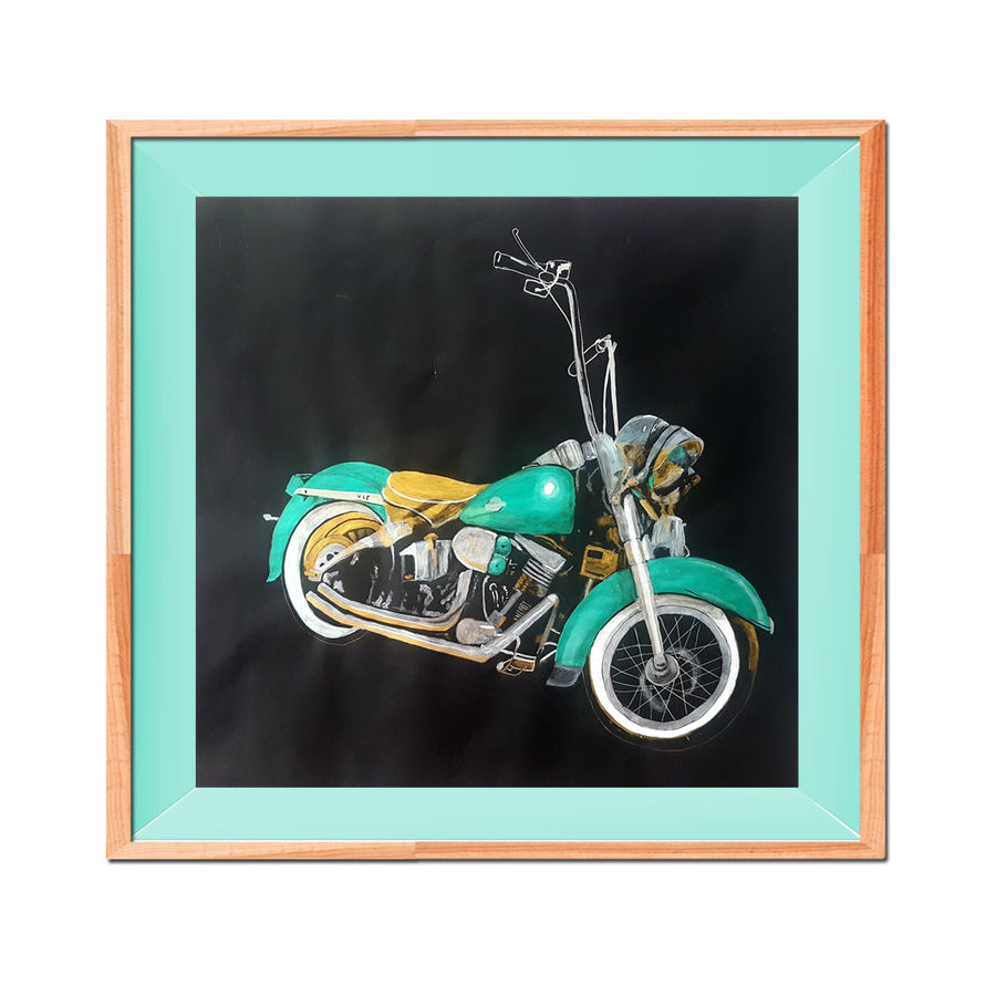 bike, 20 x 20 inch, masoom sanghi,paintings,still life paintings,paintings for living room,paintings for office,paintings for hotel,paper,acrylic color,20x20inch,GAL057217544
