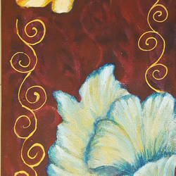flowers, 12 x 24 inch, masoom sanghi,paintings,flower paintings,paintings for dining room,paintings for living room,paintings for bedroom,paintings for office,paintings for hotel,paintings for school,canvas,acrylic color,12x24inch,GAL057217548