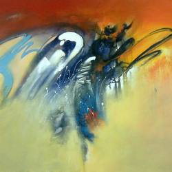 abstract1, 40 x 30 inch, chandrashekhar pant,abstract paintings,paintings for dining room,paintings for living room,paintings for bedroom,paintings for office,paintings for hotel,paintings for kitchen,canvas,acrylic color,40x30inch,GAL0817117581