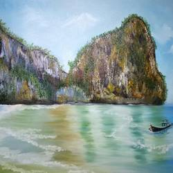 island beach, 36 x 24 inch, hriday  das,paintings,landscape paintings,nature paintings,paintings for dining room,paintings for living room,paintings for bedroom,paintings for hotel,paintings for dining room,paintings for living room,paintings for bedroom,paintings for hotel,canvas,oil,36x24inch,GAL098317603Nature,environment,Beauty,scenery,greenery