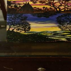 sunset, 12 x 16 inch, arpita ghosh,paintings,landscape paintings,canvas,acrylic color,12x16inch,GAL0831517606