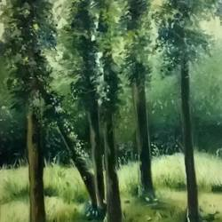 landscape , 24 x 36 inch, vaishali  verma ,paintings,nature paintings,canvas,oil,24x36inch,GAL0789717619Nature,environment,Beauty,scenery,greenery,trees,beautiful,leaves,flowers