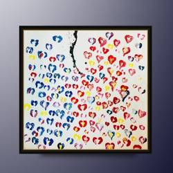 abstract painting, love painting, handmade thick oil paint strokes, 24 x 24 inch, sneha  mehta,paintings,abstract paintings,conceptual paintings,abstract expressionist paintings,art deco paintings,pop art paintings,love paintings,paintings for dining room,paintings for living room,paintings for bedroom,paintings for kids room,paintings for hotel,paintings for kitchen,canvas,oil,24x24inch,GAL0715117623heart,family,caring,happiness,forever,happy,trust,passion,romance,sweet,kiss,love,hugs,warm,fun,kisses,joy,friendship,marriage,chocolate,husband,wife,forever,caring,couple,sweetheart