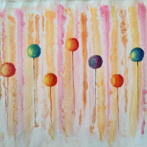 dandelion 2, 22 x 15 inch, shivani goud chintanuru,paintings,abstract paintings,canvas,acrylic color,22x15inch,GAL0817717629