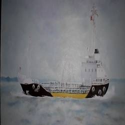 ship, 24 x 18 inch, bablu pramanik,paintings,abstract paintings,oil sheet,oil,24x18inch,GAL0773817666