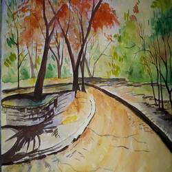 nature, 18 x 15 inch, bablu pramanik,paintings,nature paintings,handmade paper,watercolor,18x15inch,GAL0773817670Nature,environment,Beauty,scenery,greenery
