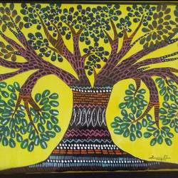 tribal art form, 15 x 11 inch, vijita pillai,paintings,gond painting.,paintings for living room,paintings for hotel,paintings for living room,paintings for hotel,drawing paper,acrylic color,15x11inch,GAL0230317676