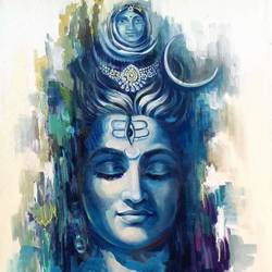 lord shiva, 20 x 30 inch, vishal gurjar,religious paintings,lord shiva paintings,paintings for dining room,paintings for living room,paintings for office,paintings for hotel,paintings for school,paintings for hospital,canvas,acrylic color,oil,20x30inch