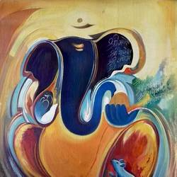 ganesha, 18 x 24 inch, vishal gurjar,religious paintings,ganesha paintings,paintings for dining room,paintings for living room,paintings for office,paintings for hotel,paintings for school,paintings for hospital,canvas,acrylic color,oil,18x24inch,vinayak,ekadanta,ganpati,lambodar,peace,devotion,religious,lord ganesha,lordganpati,ganpati,ganesha,lord ganesh,elephant god,religious,ganpati bappa morya,mouse,mushakraj,ladoo,sweets,ganpati bappa morya,ganesh chaturthi,ganesh murti,elephant god,religious,lord ganesh,ganesha,om,hindu god,shiv parvati, putra,bhakti,blessings,aashirwad,pooja,puja,aarti,ekdant,vakratunda,lambodara,bhalchandra,gajanan,vinayak,prathamesh,vignesh,heramba,siddhivinayak,mahaganpati,omkar,mushak,mouse,ladoo,modak,