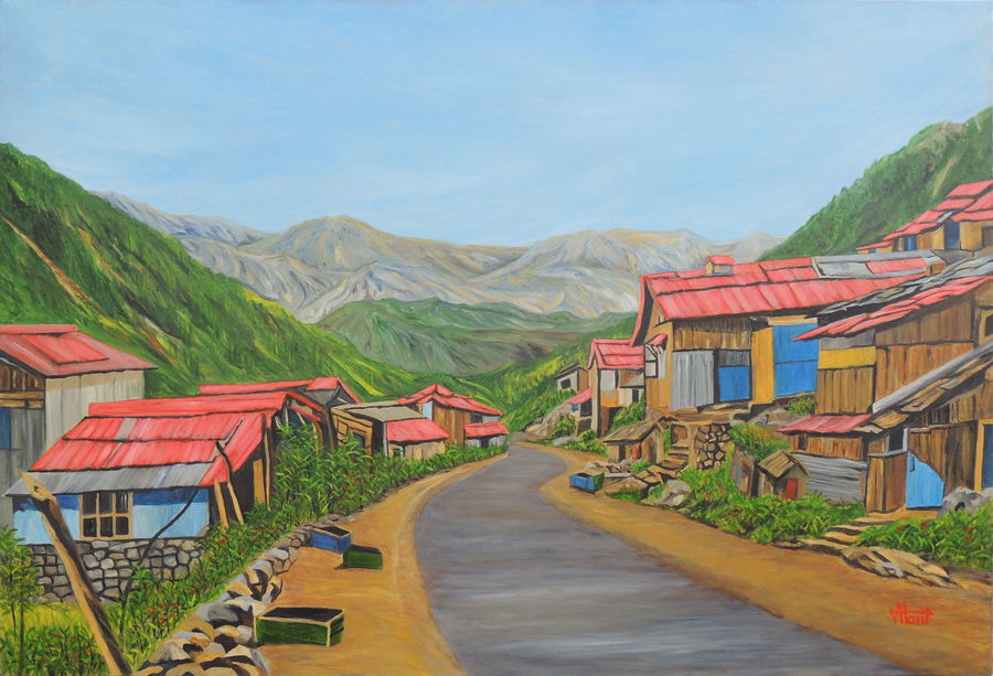 landscape sikkim iii, 47 x 33 inch, ajay harit,paintings,landscape paintings,nature paintings,realism paintings,realistic paintings,paintings for dining room,paintings for living room,paintings for bedroom,paintings for office,paintings for hotel,paintings for school,paintings for hospital,paintings for dining room,paintings for living room,paintings for bedroom,paintings for office,paintings for hotel,paintings for school,paintings for hospital,canvas,oil,47x33inch,GAL0199817730Nature,environment,Beauty,scenery,greenery