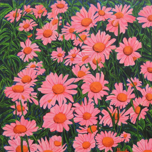 morning bloom, 30 x 30 inch, ajay harit,paintings,flower paintings,paintings for dining room,paintings for living room,paintings for bedroom,paintings for office,paintings for kids room,paintings for hotel,paintings for school,paintings for hospital,canvas,acrylic color,30x30inch,GAL0199817738