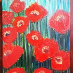 red poppy, 8 x 10 inch, praveena shree egambaram,paintings,flower paintings,nature paintings,expressionist paintings,impressionist paintings,realism paintings,contemporary paintings,paintings for dining room,paintings for living room,paintings for bedroom,paintings for office,paintings for kids room,paintings for hotel,paintings for kitchen,paintings for school,canvas,oil,8x10inch,GAL0681417754Nature,environment,Beauty,scenery,greenery