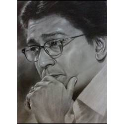 portrait, 16 x 20 inch, vinay vaidya,paintings,portrait paintings,thick paper,charcoal,16x20inch,GAL0849017770