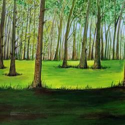 """ beauty of trees "", 16 x 12 inch, promila singh,paintings,nature paintings,paintings for living room,paintings for living room,thick paper,acrylic color,16x12inch,GAL0823217802Nature,environment,Beauty,scenery,greenery"
