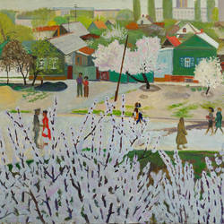 a day in may, 24 x 33 inch, moesey li,landscape paintings,paintings for living room,paintings,canvas,oil paint,24x33inch,GAL07181781