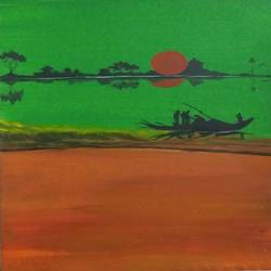 sunrise, 8 x 12 inch, bablu pramanik,paintings,abstract paintings,arches paper,acrylic color,8x12inch,GAL0773817836