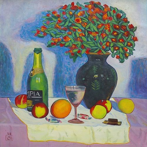 festive table, 28 x 24 inch, moesey li,still life paintings,paintings for dining room,paintings,canvas,oil paint,28x24inch,GAL07181785