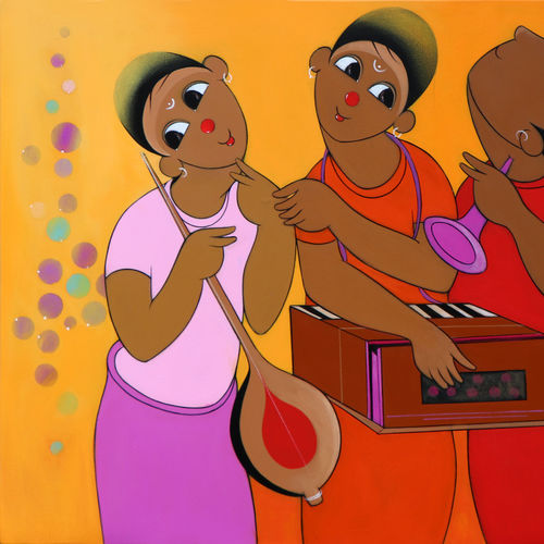 music series, 36 x 24 inch, dnyaneshwar  bembade ,paintings,figurative paintings,paintings for office,canvas,acrylic color,36x24inch,GAL046417856