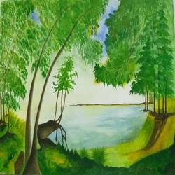 nature, 12 x 8 inch, bablu pramanik,paintings,nature paintings,handmade paper,mixed media,12x8inch,GAL0773817857Nature,environment,Beauty,scenery,greenery