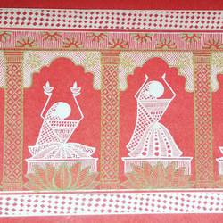 dancing ladies, 12 x 5 inch, anushree  jain,paintings,folk art paintings,warli paintings,phad painting,miniature painting.,paintings for dining room,paintings for living room,paintings for bedroom,paintings for office,paintings for kids room,paintings for hotel,paintings for school,thick paper,pen color,12x5inch,GAL0765717867