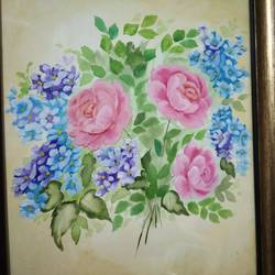 vintage rose, 18 x 14 inch, vinita agarwal,paintings,abstract paintings,flower paintings,nature paintings,paintings for dining room,paintings for bedroom,paintings for office,paintings for bathroom,paintings for kitchen,paintings for school,paintings for hospital,canvas,acrylic color,mixed media,18x14inch,GAL0849917872Nature,environment,Beauty,scenery,greenery