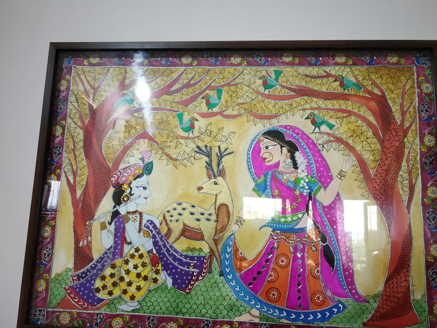 radha krishna madhubani, 30 x 22 inch, vinita agarwal,paintings,folk art paintings,religious paintings,nature paintings,art deco paintings,animal paintings,radha krishna paintings,love paintings,paintings for dining room,paintings for living room,paintings for bedroom,paintings for office,paintings for hotel,paintings for school,paintings for hospital,canvas,acrylic color,mixed media,30x22inch,GAL0849917873,radhakrishna,love,pece,lordkrishna,,lordradha,peace,flute,music,radha,krishna,devotion,coupleheart,family,caring,happiness,forever,happy,trust,passion,romance,sweet,kiss,love,hugs,warm,fun,kisses,joy,friendship,marriage,chocolate,husband,wife,forever,caring,couple,sweetheartNature,environment,Beauty,scenery,greenery