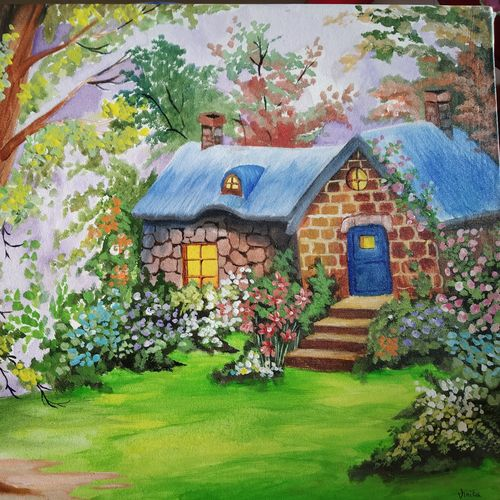 cottage in valley, 15 x 22 inch, vinita agarwal,paintings,modern art paintings,nature paintings,paintings for dining room,paintings for living room,paintings for bedroom,paintings for office,paintings for bathroom,paintings for kids room,paintings for hotel,paintings for kitchen,paintings for school,paintings for hospital,paintings for dining room,paintings for living room,paintings for bedroom,paintings for office,paintings for bathroom,paintings for kids room,paintings for hotel,paintings for kitchen,paintings for school,paintings for hospital,canvas,acrylic color,mixed media,15x22inch,GAL0849917874Nature,environment,Beauty,scenery,greenery