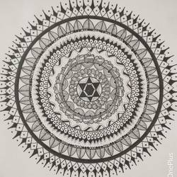 mandala, 8 x 11 inch, udayan basu,drawings,abstract drawings,minimalist drawings,paintings for dining room,paintings for living room,paintings for bedroom,paintings for office,thick paper,pen color,8x11inch,GAL0360017878