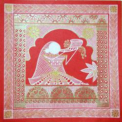 musican_2, 6 x 6 inch, anushree  jain,paintings,folk art paintings,warli paintings,phad painting,miniature painting.,paintings for dining room,paintings for living room,paintings for bedroom,paintings for office,paintings for kids room,paintings for hotel,paintings for school,thick paper,pen color,6x6inch,GAL0765717912