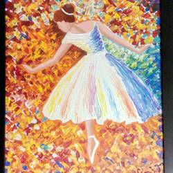ballerina, 12 x 16 inch, anirban karmakar,paintings,impressionist paintings,paintings for bedroom,paintings for hotel,paintings for bedroom,paintings for hotel,canvas,acrylic color,12x16inch,GAL0864417917