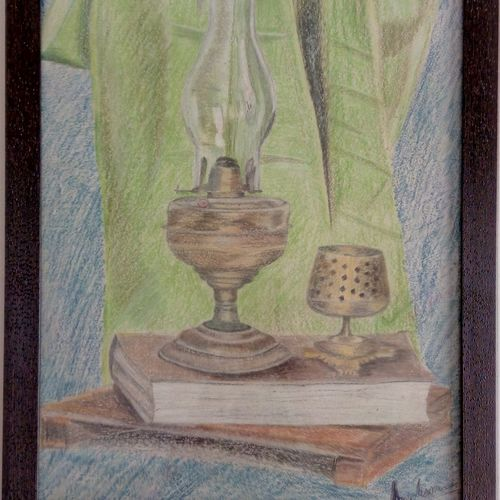 enlightened , 18 x 24 inch, anirban karmakar,paintings,still life paintings,paintings for living room,paintings for school,thick paper,pastel color,18x24inch,GAL0864417923