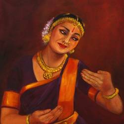 yashodha- vatsalyam krishna's mother, 18 x 24 inch, asha shenoy,paintings,figurative paintings,religious paintings,realism paintings,radha krishna paintings,realistic paintings,paintings for living room,paintings for office,paintings for school,folk art paintings,love paintings,paintings for dining room,paintings for bedroom,paintings for hotel,paintings for hospital,canvas,oil,18x24inch,GAL0865217936