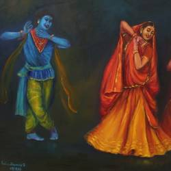 radha and krishna love dancers -kathak dancers 36 x 24 inch, by asha shenoy,36x24inch, dance, love, dance love, Radhakrishna love, blue, ,GAL0865217938,radhakrishna,love,pece,lordkrishna,,lordradha,peace,radha,krishna,devotion,couple,danceheart,family,caring,happiness,forever,happy,trust,passion,romance,sweet,kiss,love,hugs,warm,fun,kisses,joy,friendship,marriage,chocolate,husband,wife,forever,caring,couple,sweetheart