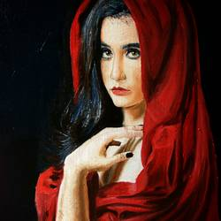 drapes, 16 x 20 inch, namrata dey,paintings,figurative paintings,portrait paintings,paintings for living room,paintings for bedroom,paintings for hotel,paintings for hospital,paintings for living room,paintings for bedroom,canvas board,oil,16x20inch,GAL0866517957