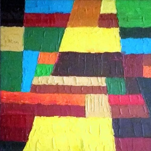 journey of life, 27 x 27 inch, milind misal,paintings,abstract paintings,paintings for living room,paintings for living room,canvas,oil,27x27inch,GAL0868617990