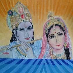 radha-krishna, 24 x 16 inch, amit kumar sinha,paintings,radha krishna paintings,paintings for dining room,paintings for living room,paintings for office,paintings for kids room,paintings for hotel,paintings for kitchen,paintings for school,paintings for hospital,canvas,oil,24x16inch,GAL0691317999,radhakrishna,love,pece,lordkrishna,,lordradha,peace,flute,music,radha,krishna,devotion,couple
