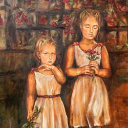 young sisters, 47 x 39 inch, saranda xhemajli,paintings,figurative paintings,portrait paintings,realism paintings,love paintings,paintings for dining room,paintings for living room,paintings for bedroom,paintings for office,paintings for kids room,paintings for hotel,paintings for kitchen,paintings for school,paintings for hospital,paintings for dining room,paintings for living room,paintings for bedroom,paintings for office,paintings for kids room,paintings for hotel,paintings for kitchen,paintings for school,paintings for hospital,canvas,oil,47x39inch,GAL0797518007