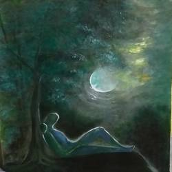 alikh sukh, 22 x 26 inch, bablu pramanik,paintings,nature paintings,handmade paper,acrylic color,22x26inch,GAL0773818034Nature,environment,Beauty,scenery,greenery